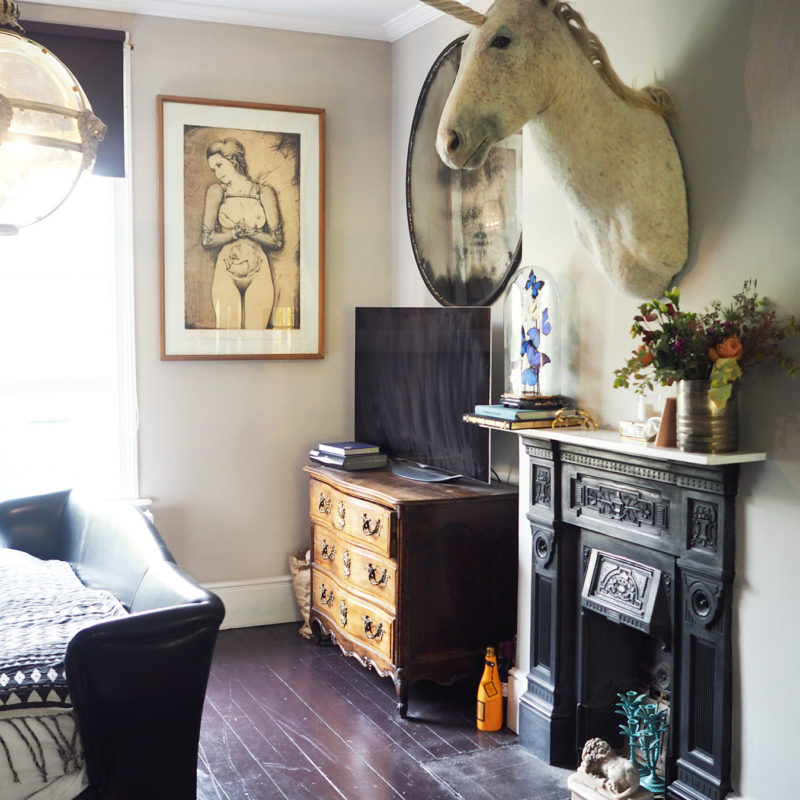 Unicorn over the fireplace