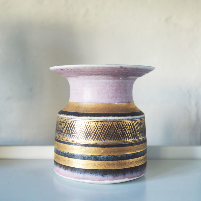 pink and gold vase