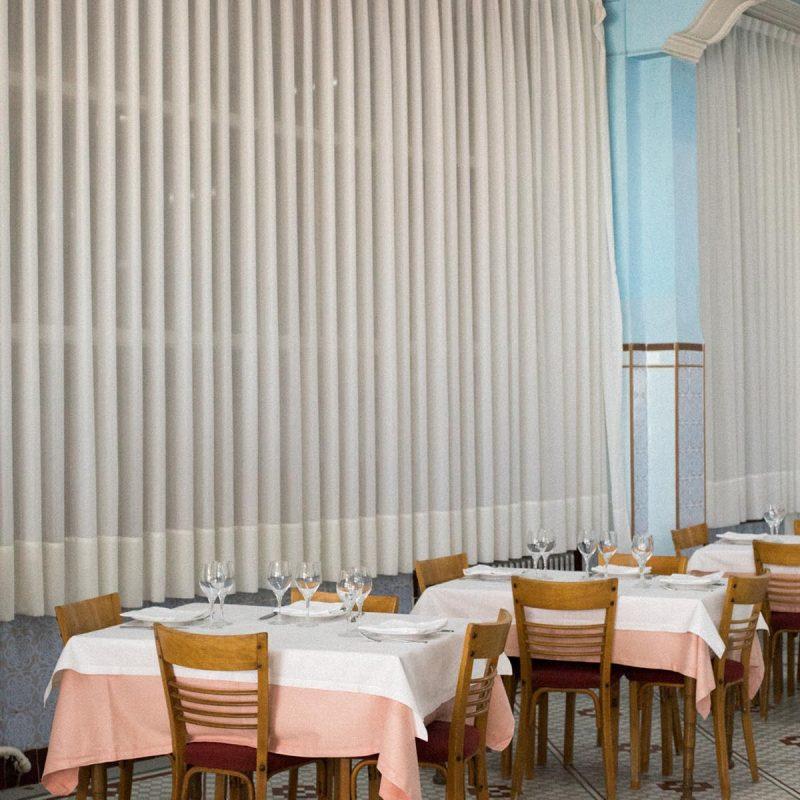 tables at La Pepica Valencia Photograph by Alicia Waite