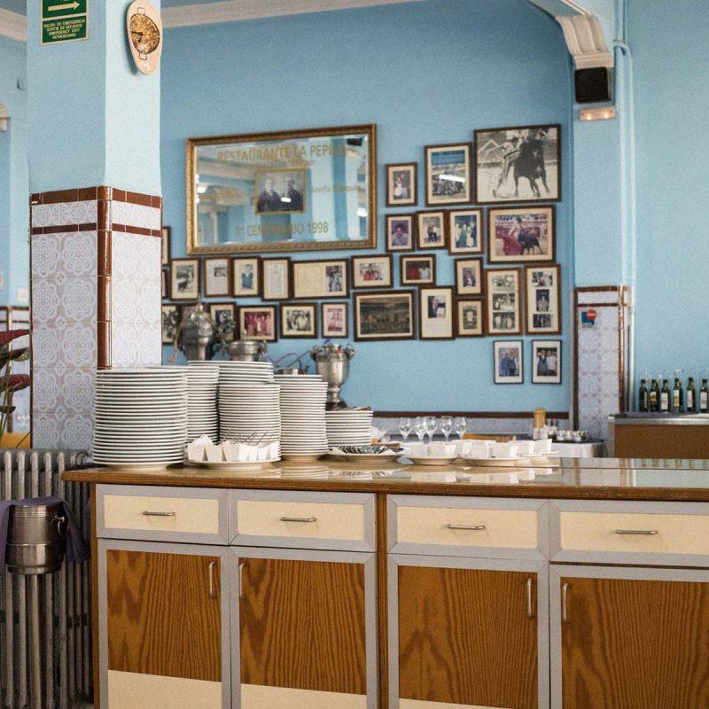 serving counter La Pepica Valencia Photograph by Alicia Waite